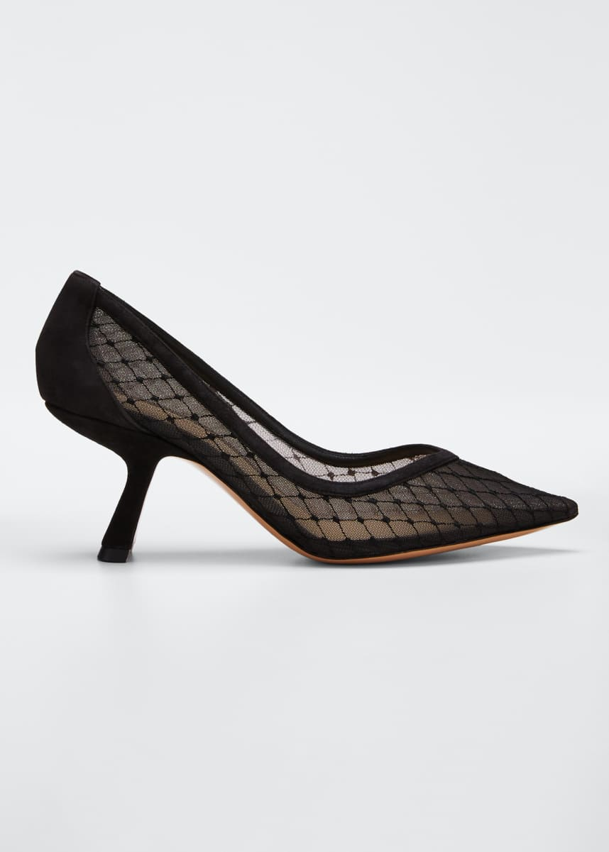 Nicholas Kirkwood Lexi Mesh Pointed Pumps, Black