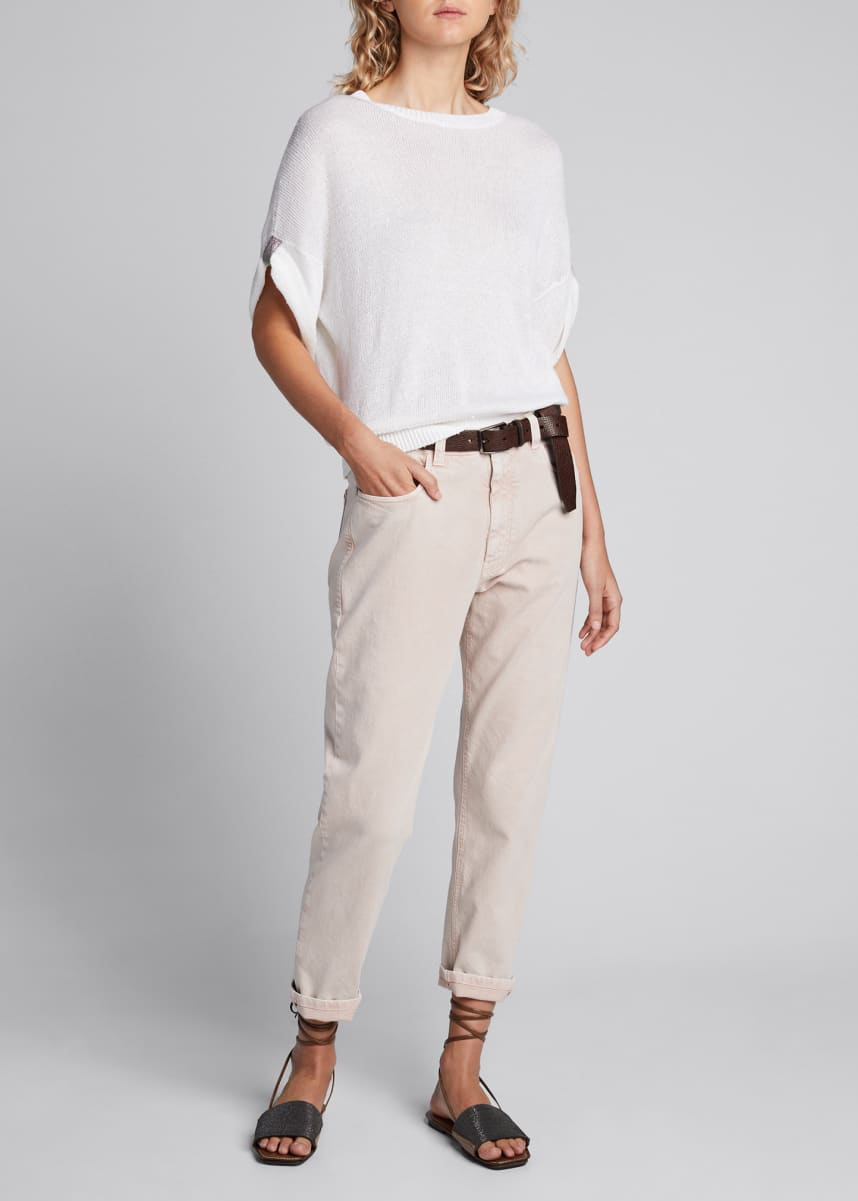Brunello Cucinelli Dyed Cropped Jeans