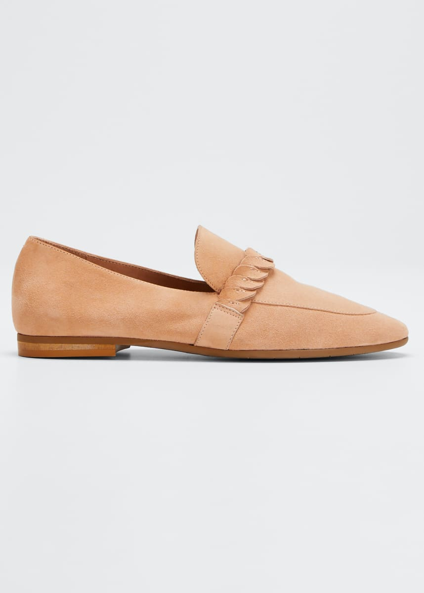 Aquatalia Carlee Suede Slip-On Loafers