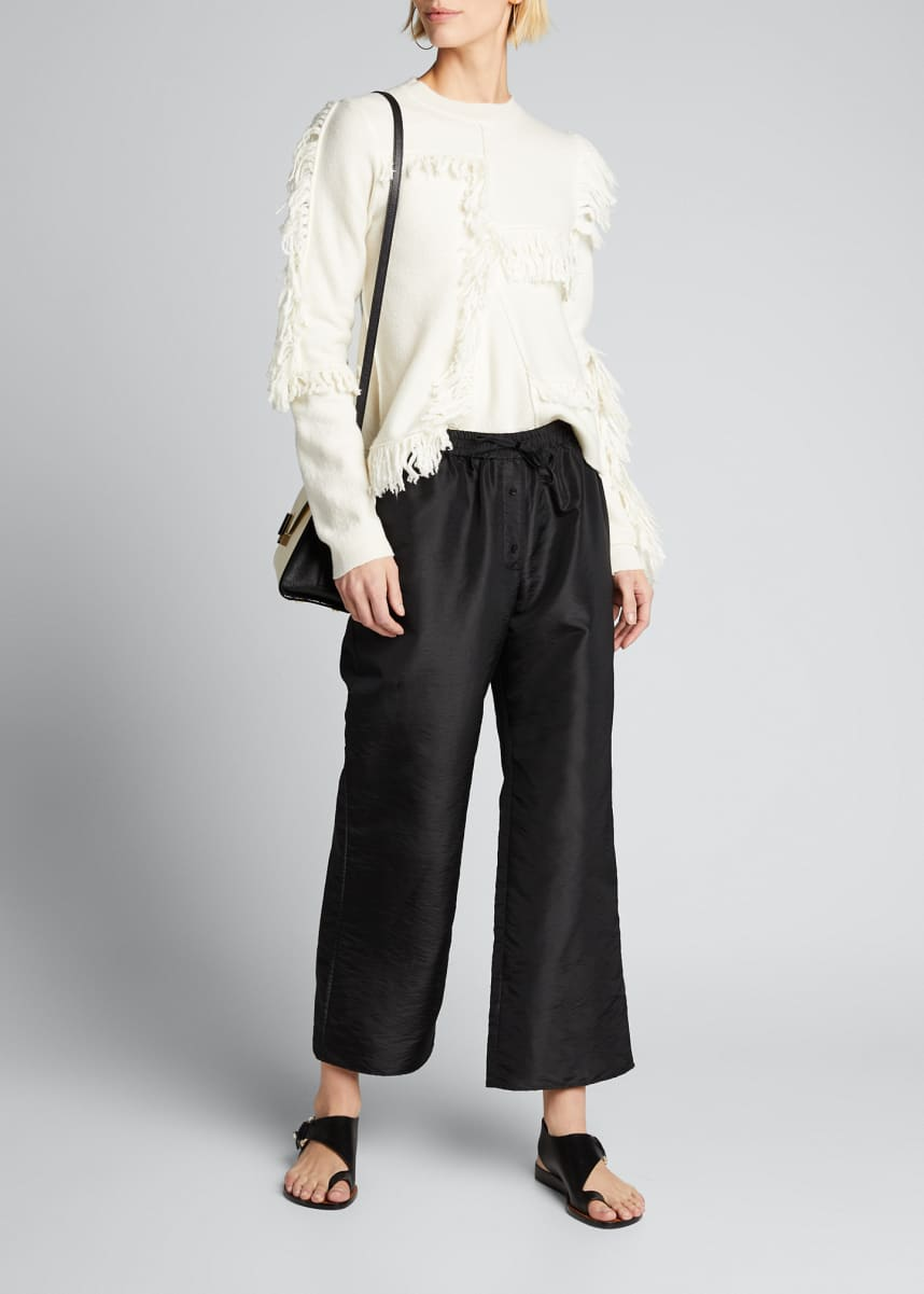 Cecilie Bahnsen Cropped Straight-Leg Trousers