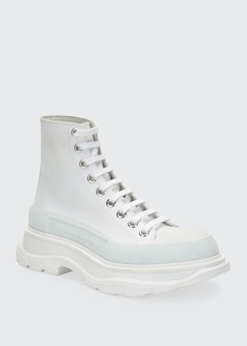Alexander McQueen Canvas High-Top Sneakers