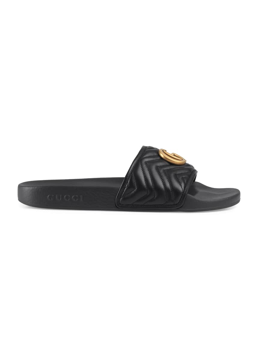 Gucci Men's Pursuit Quilted Running GG Slides