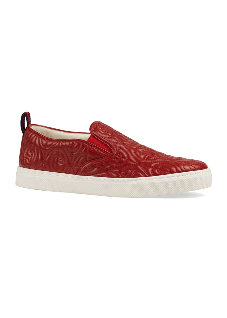 Gucci Men's Dublin Rhombus Stitched-GG Slip-On Sneakers