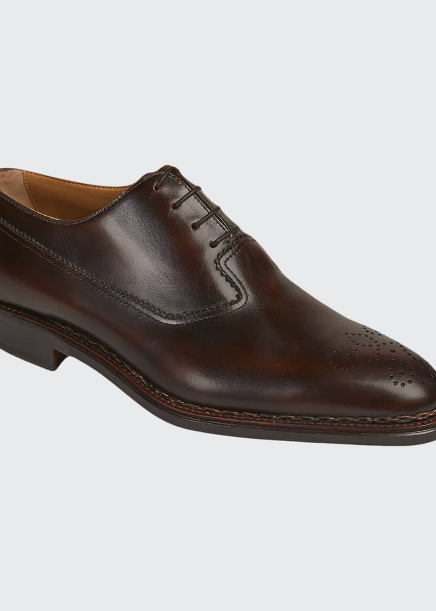Paul Stuart Men's Madrid Brogue Leather Oxford Shoes