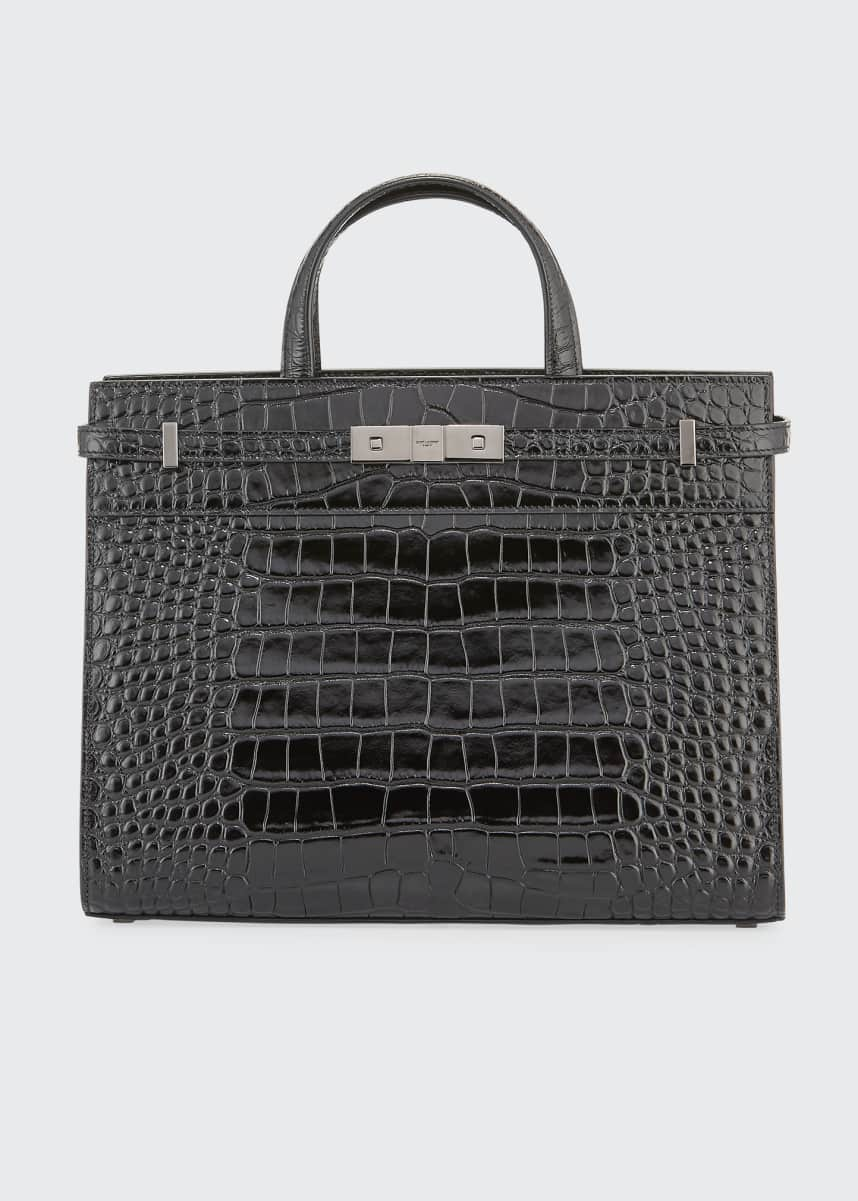 Saint Laurent Manhattan Small Croco Tote Bag
