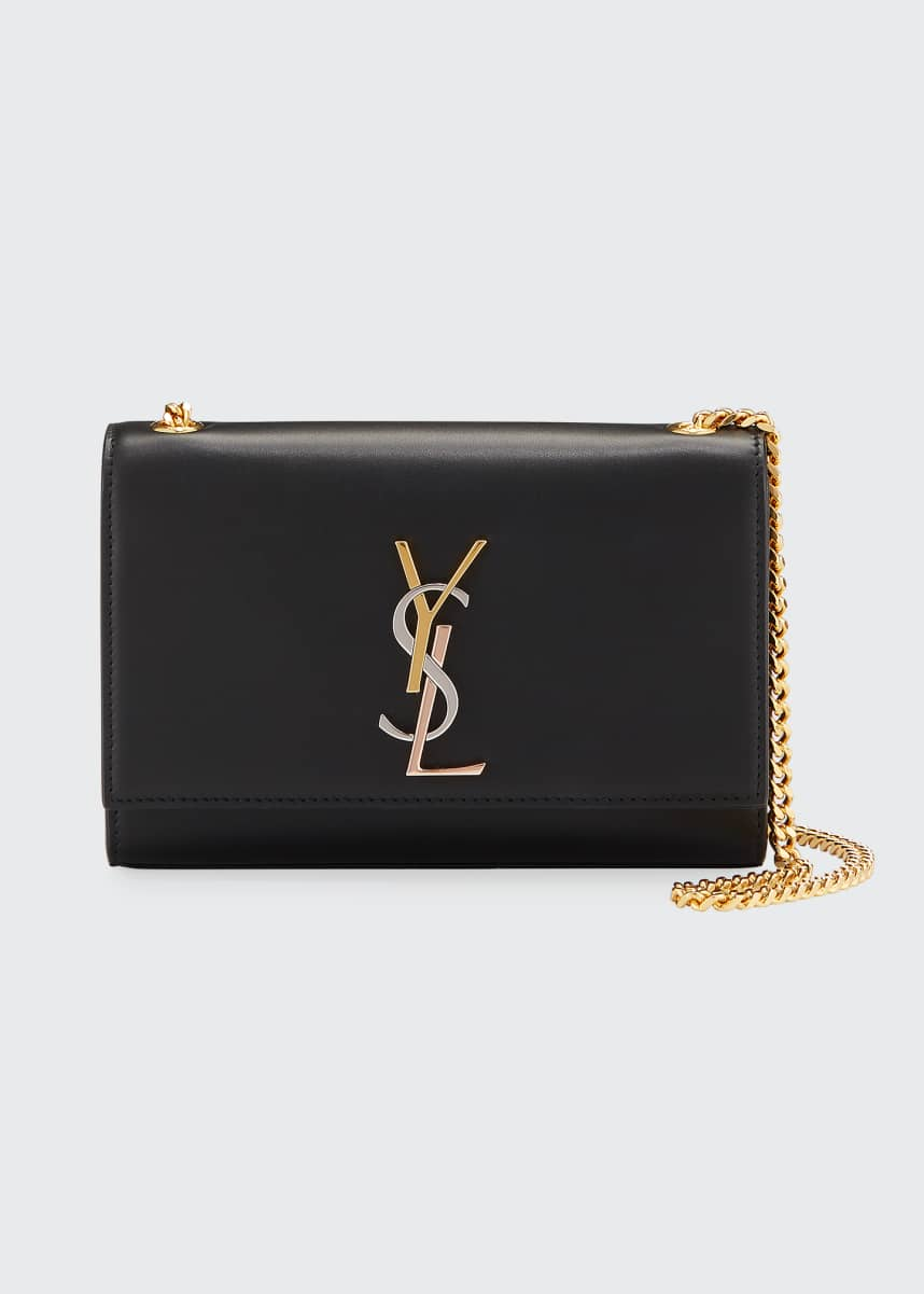 Saint Laurent Kate Small Tricolor YSL Crossbody Bag