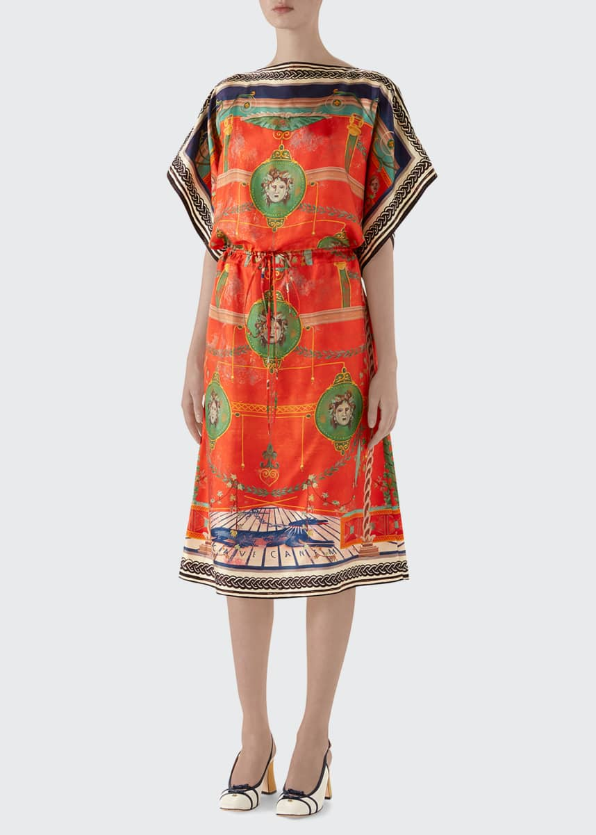 Gucci Roman Tale Silk Dress