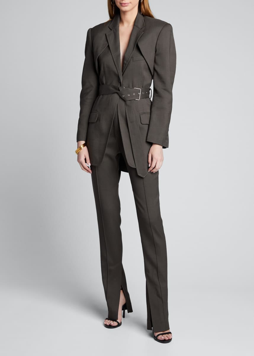 Peter Do Detachable Apron Blazer