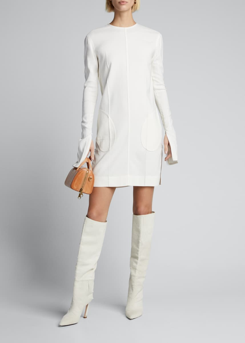 Peter Do Creased Long-Sleeve Dress