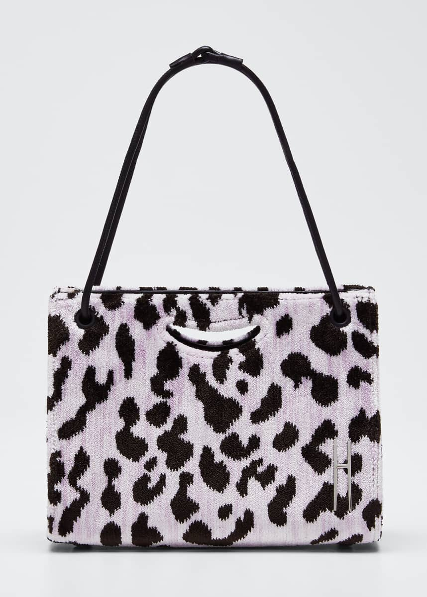 Hayward Mini 1712 Peony Leopard Clutch Bag