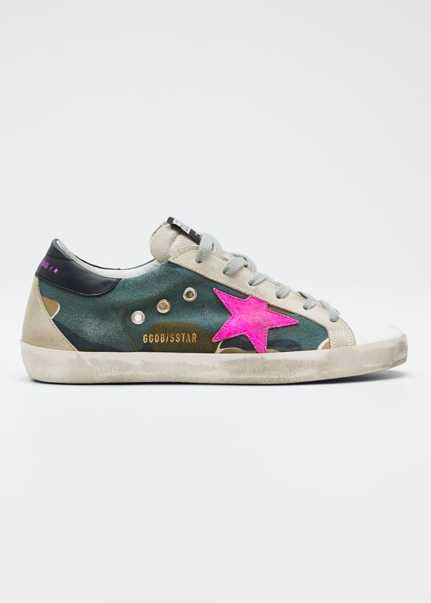 Golden Goose Superstar Camo Low-Top Sneakers