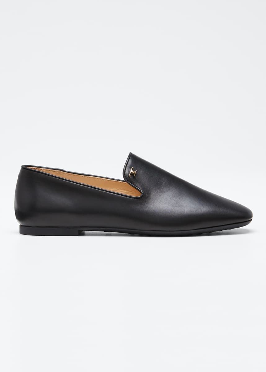 Tod's Leather Rubber-Sole Loafers