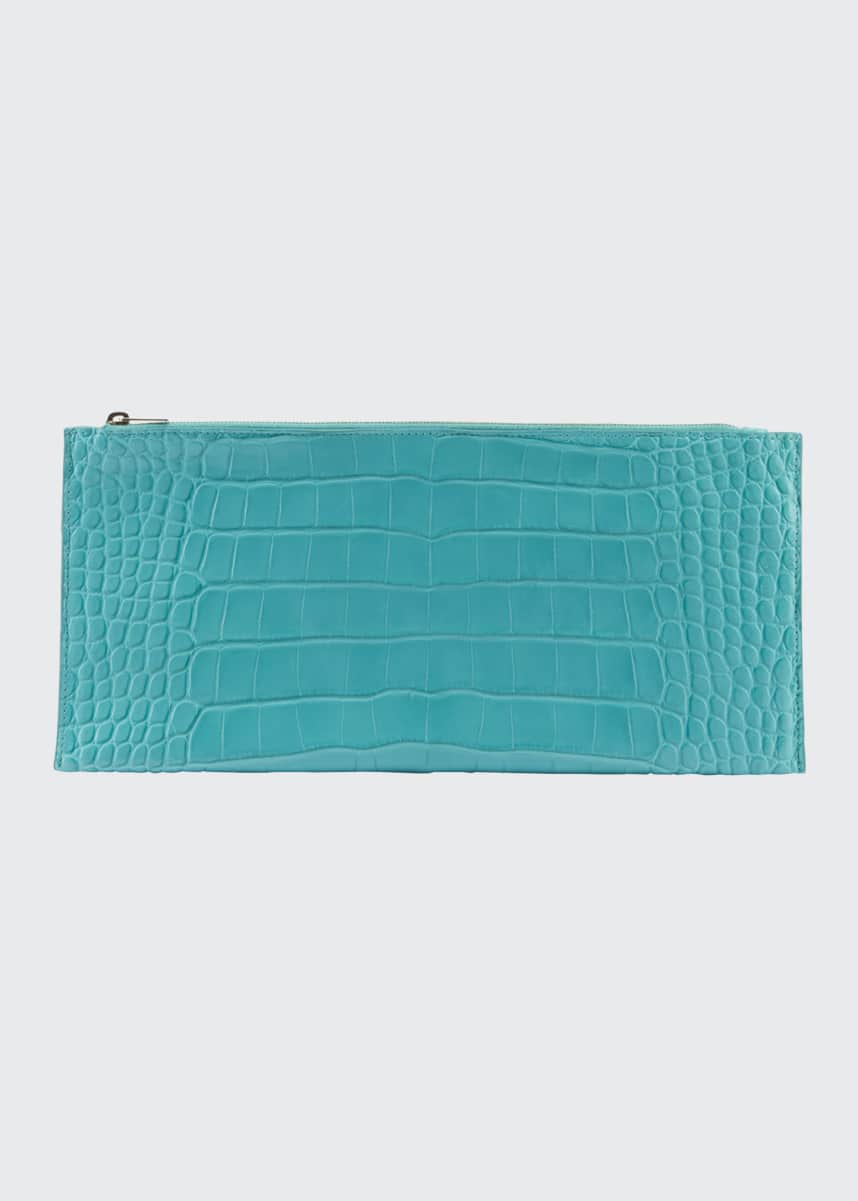 THE ROW Flat Clutch Bag in Alligator