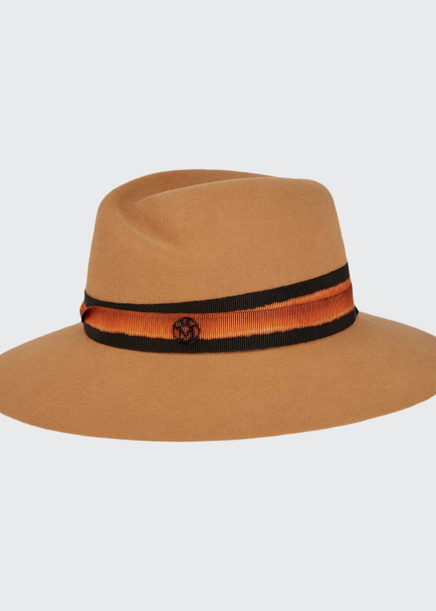 Maison Michel Virginie Rabbit Felt Fedora Hat