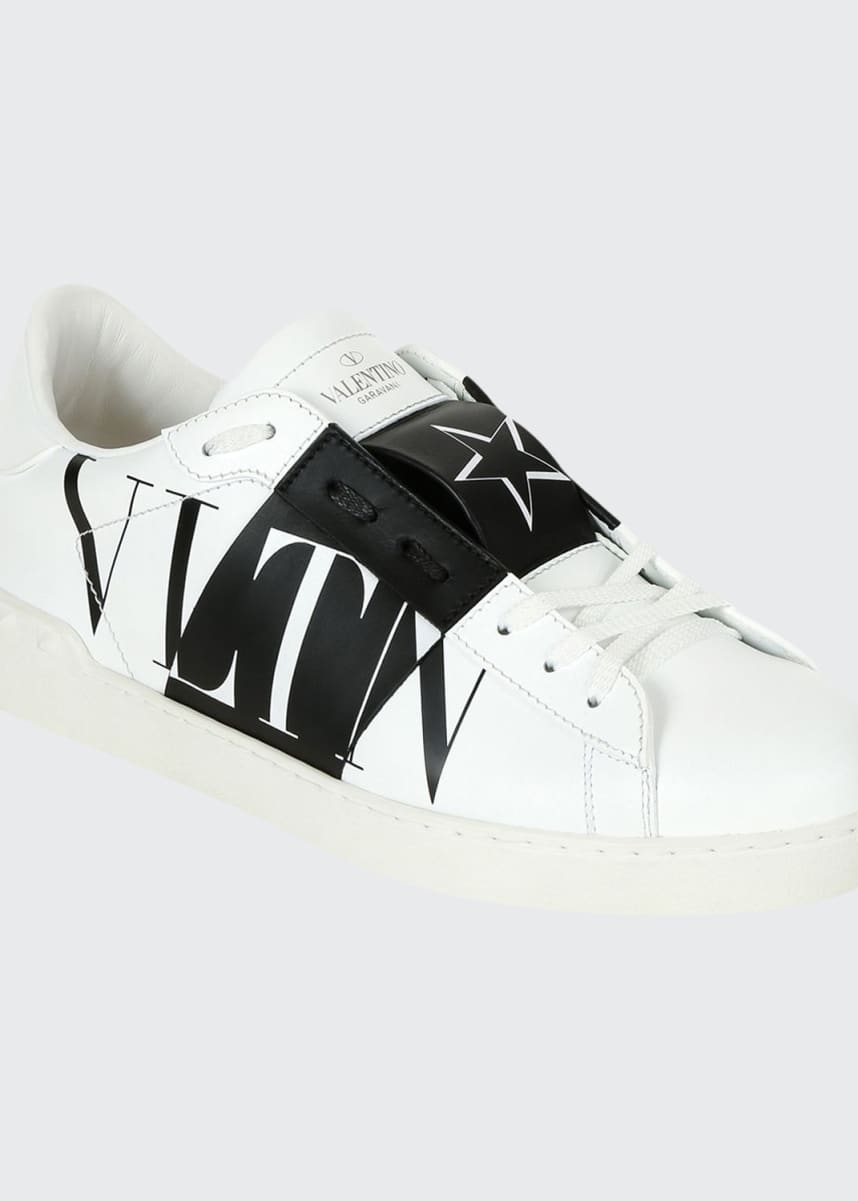 Valentino Men's Rockstud Walker Leather Sneakers