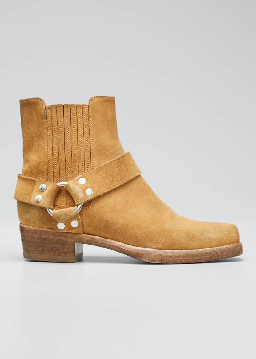 RE/DONE Short Cavalry Suede Harness Boots