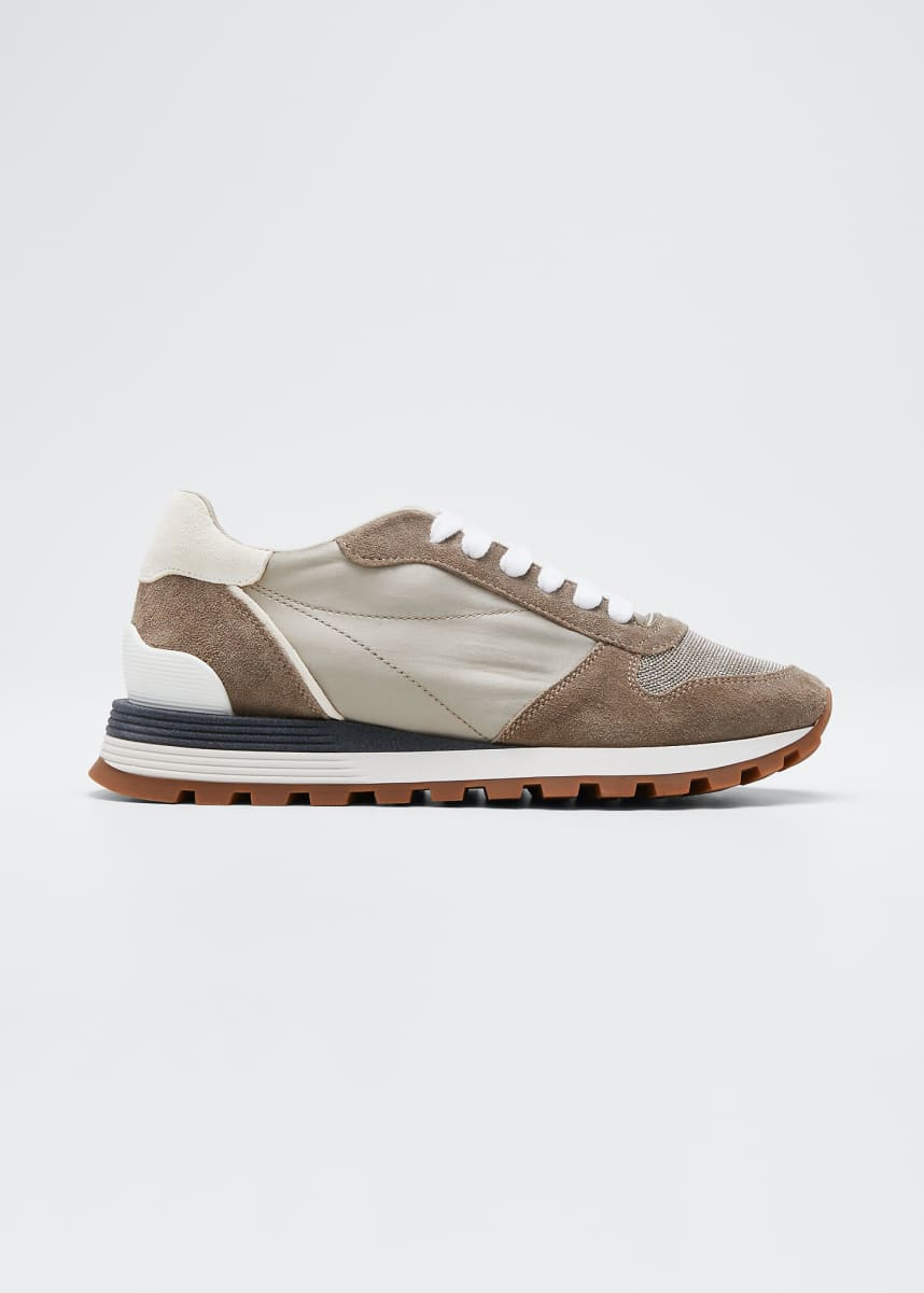 Brunello Cucinelli Monili Runner Sneakers with Logo