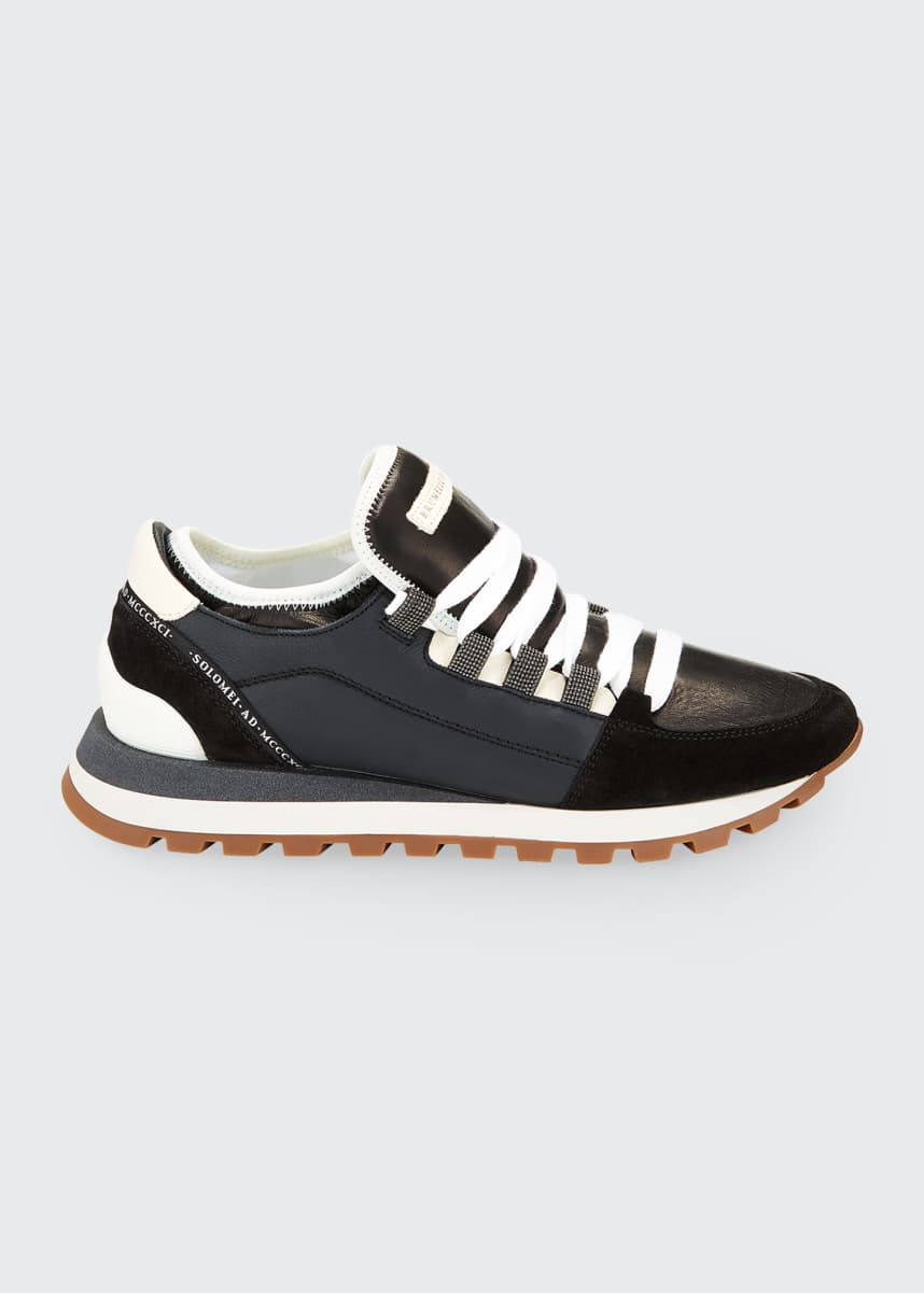 Brunello Cucinelli Wide Lace Runner Sneakers