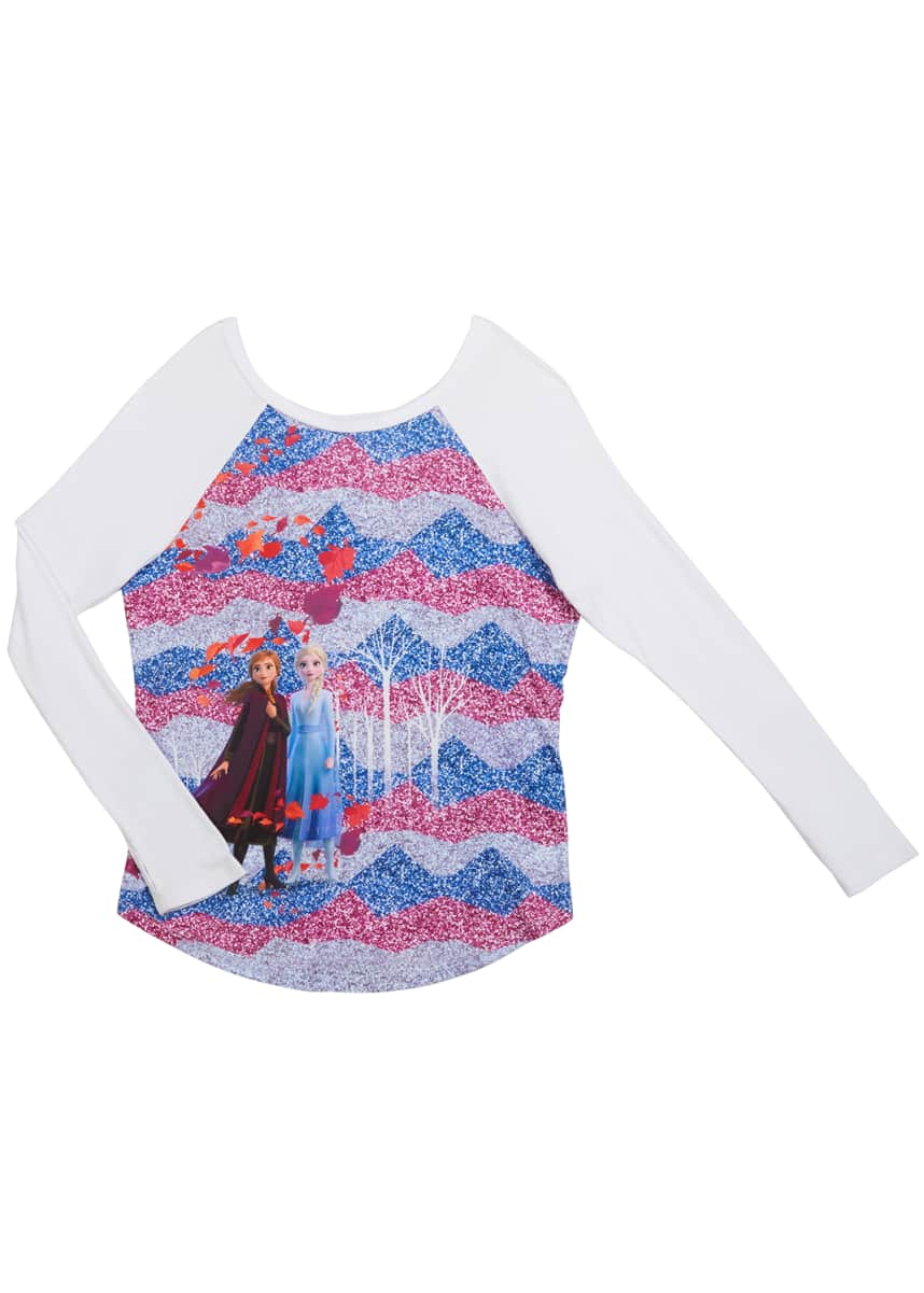 Terez Frozen 2 Enchanted Forest Baseball Tee, Size 7-12