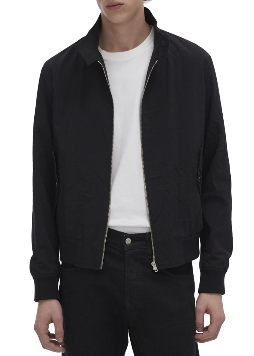 Helmut Lang Men's Harrington Crushed Suiting Jacket