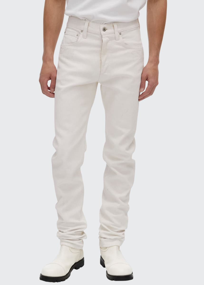 Helmut Lang Men's High-Rise Straight-Leg Jeans