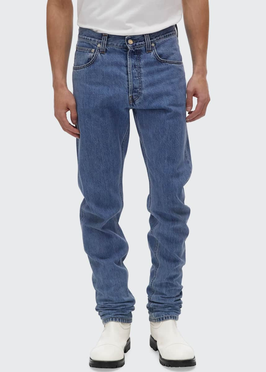 Helmut Lang Men's Accelerated Masc High-Rise Straight-Leg Jeans