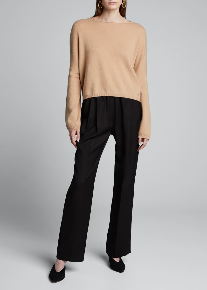 Loulou Studio Cashmere Cropped Boxy Sweater