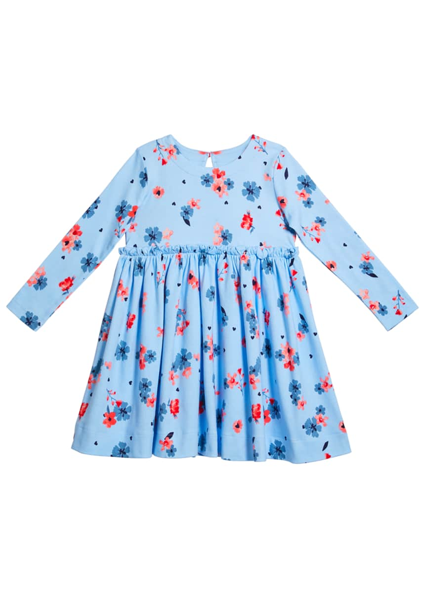 Joules Girl's Lillian Horse Print Ruffle Layered Skirt, Size 2-6