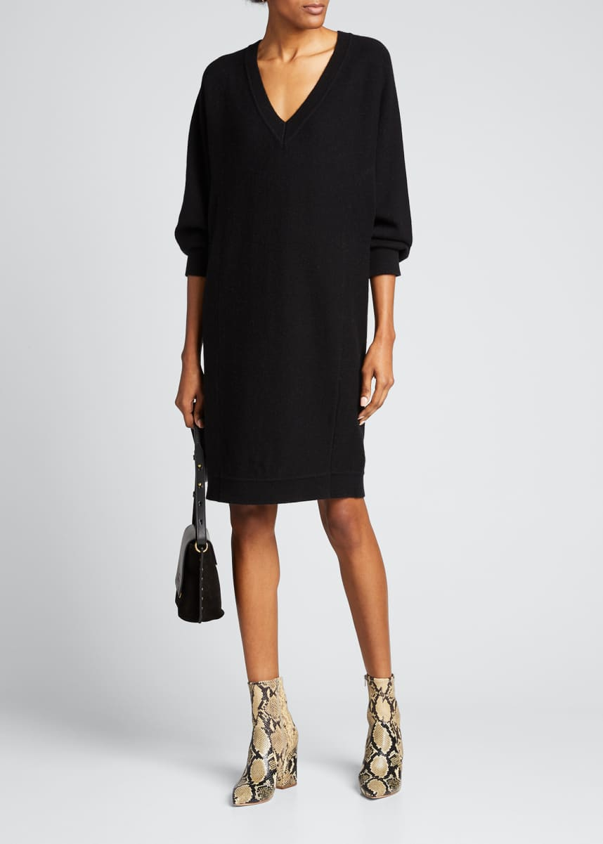 Vince V-Back Dolman-Sleeve Shift Dress