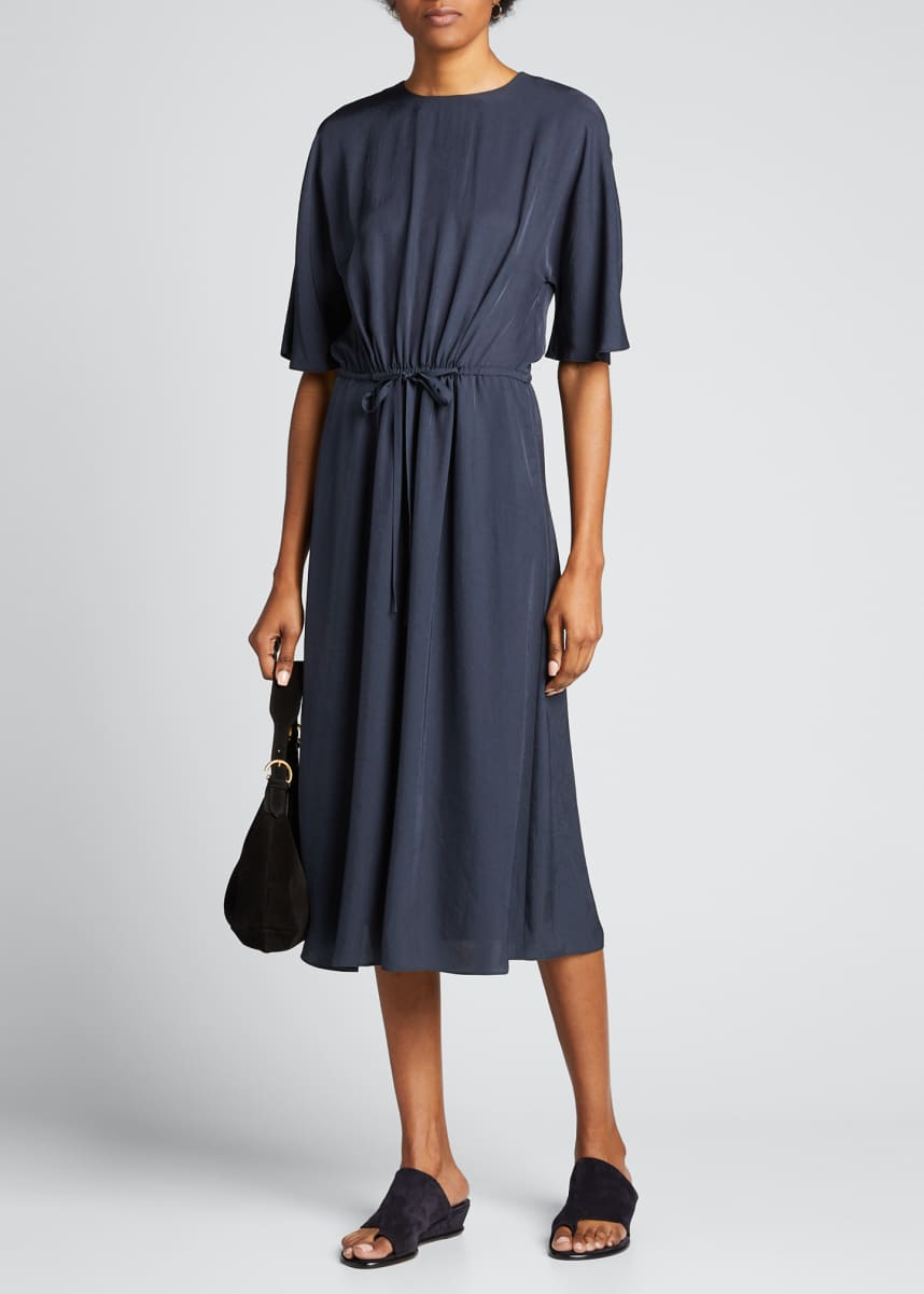 Vince Elbow-Sleeve T-Shirt Dress
