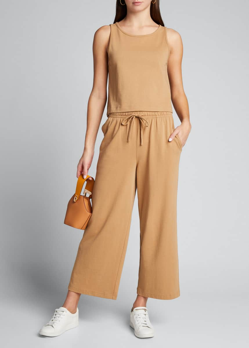 Vince Cropped Wide-Leg Pull-On Pants