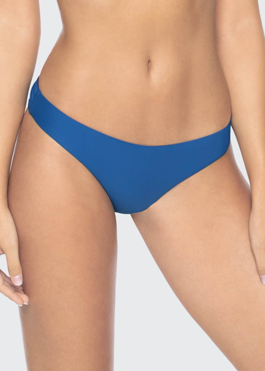 PQ Swim Basic Ruched Hipster Bikini Bottoms