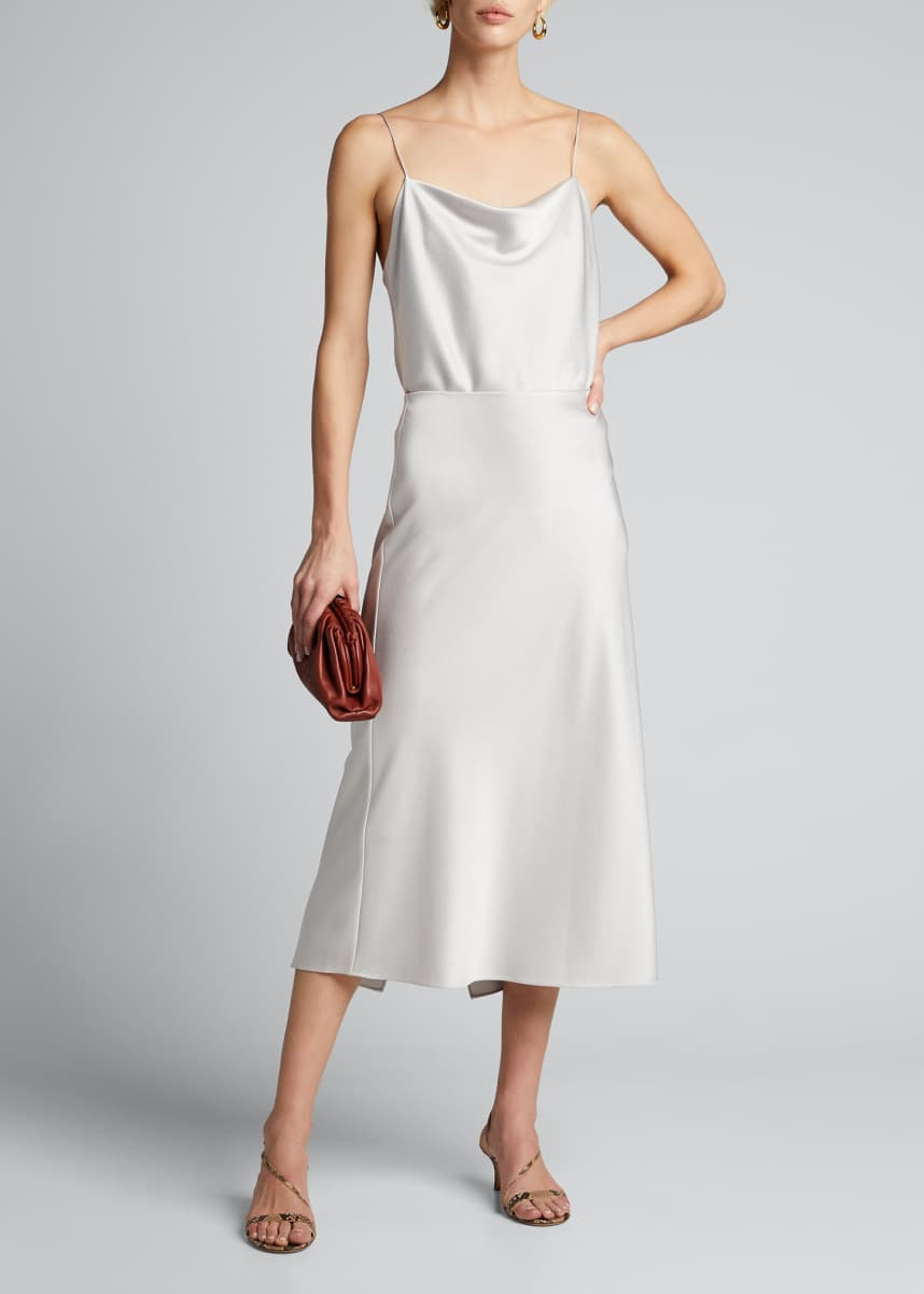 Alice + Olivia Maeve Mid-Length Slip Skirt