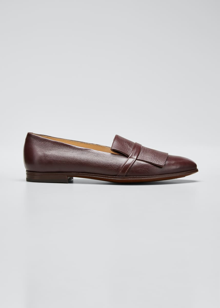Gravati Leather Kiltie Smoking Loafers