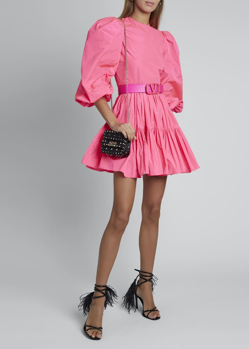 Valentino Tiered Skirt Taffeta Dress