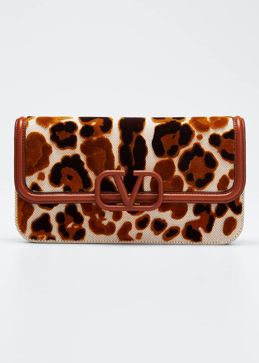 Valentino Garavani VSling Leopard Canvas Crossbody Bag