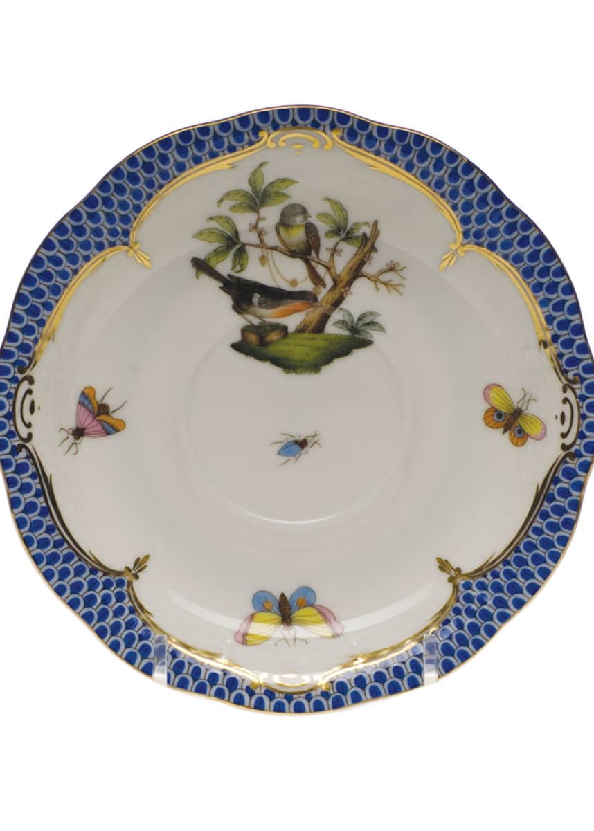 Herend Rothschild Blue Motif 02 Tea Saucer
