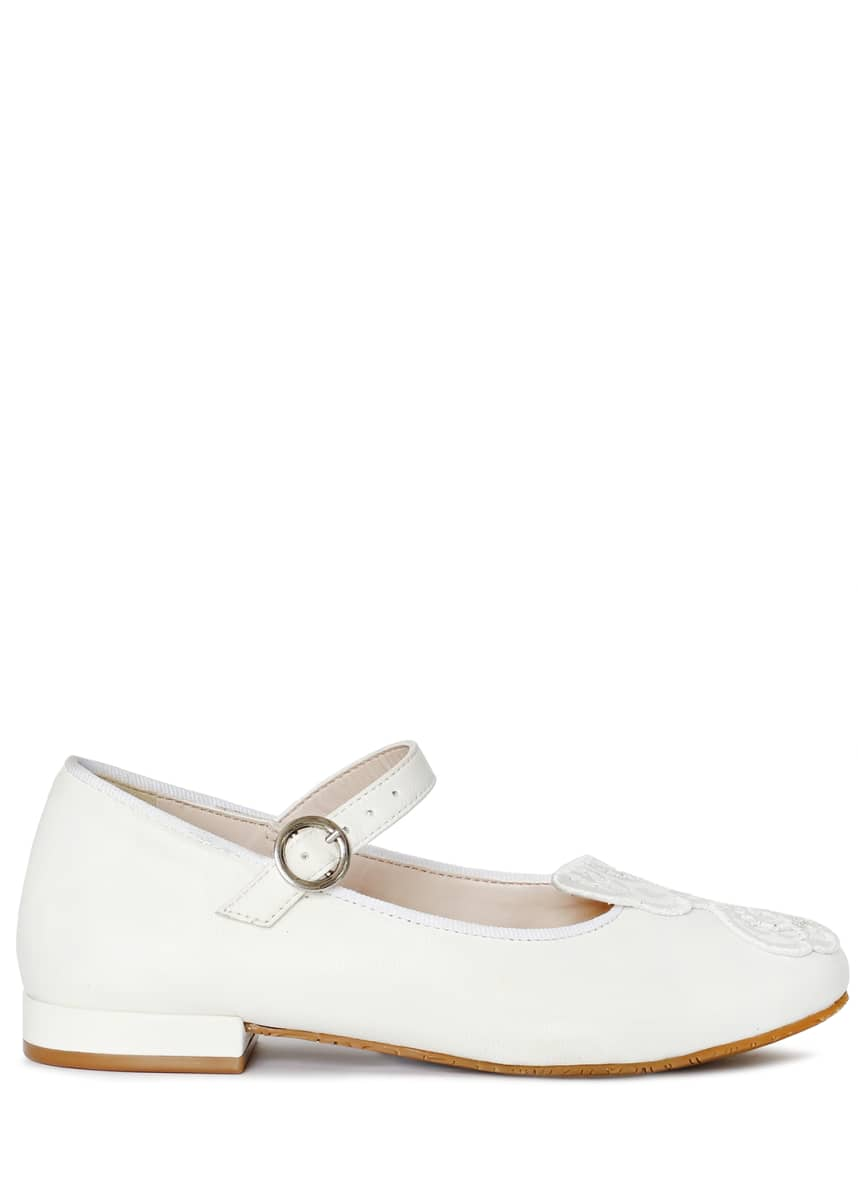 Sophia Webster Butterfly Leather Ballet Flats, Toddler/Kids