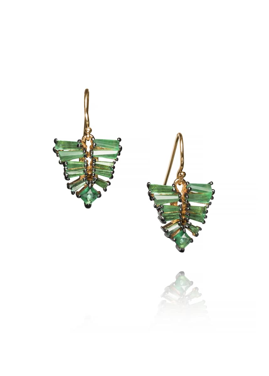 Nak Armstrong Small Leaf Earrings