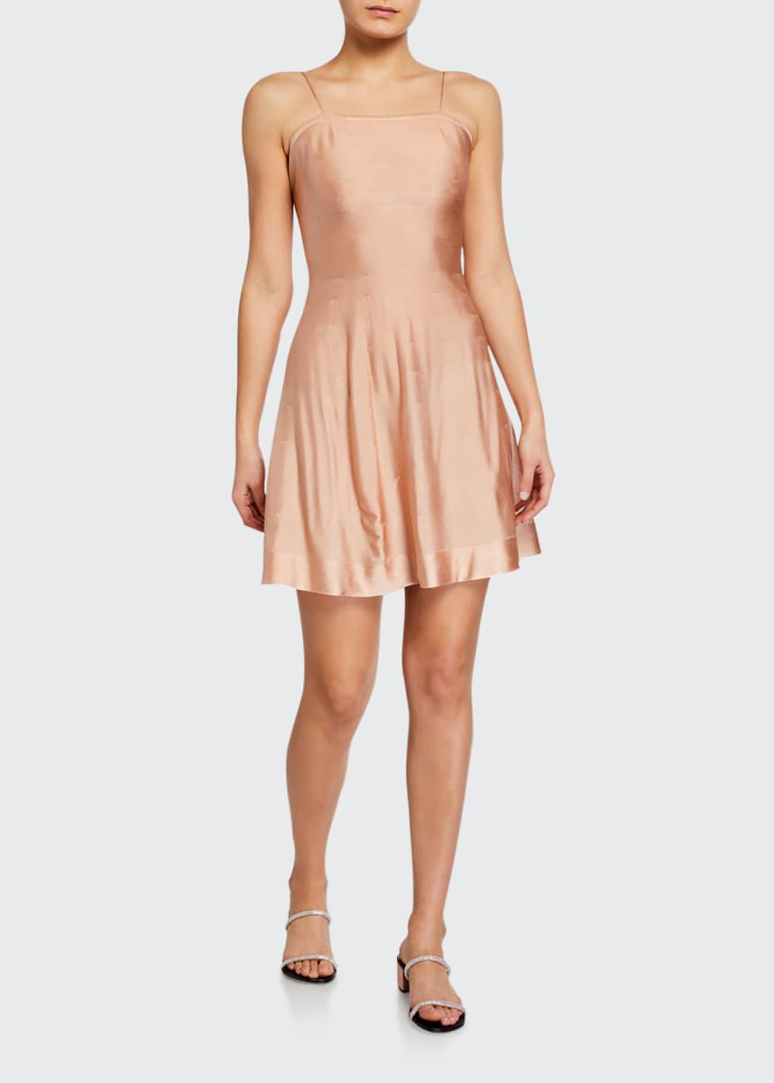 ALAIA Satin Mini Slip Dress