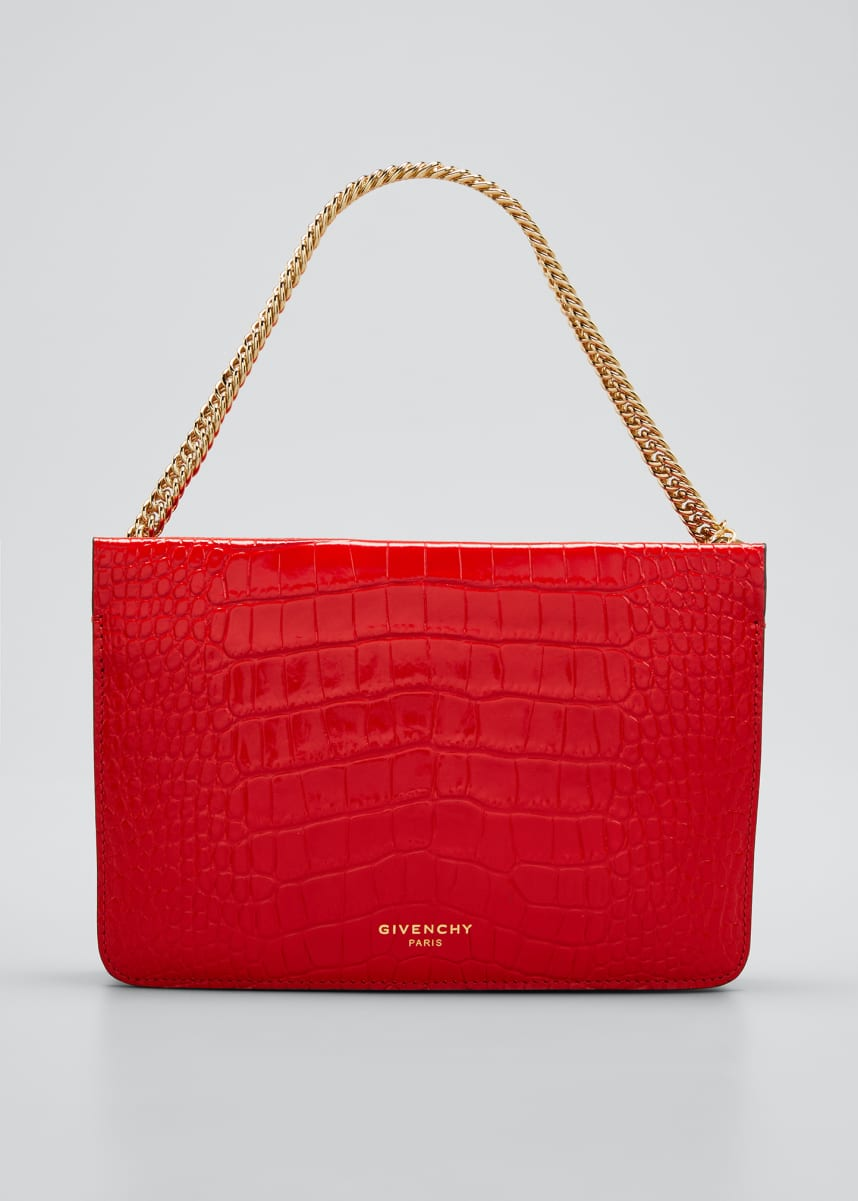 Givenchy Cross 3 Mock-Croc Chain Crossbody Bag