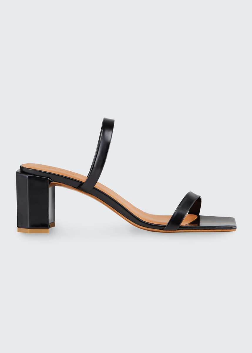 BY FAR Tanya 40mm Patent Sandals