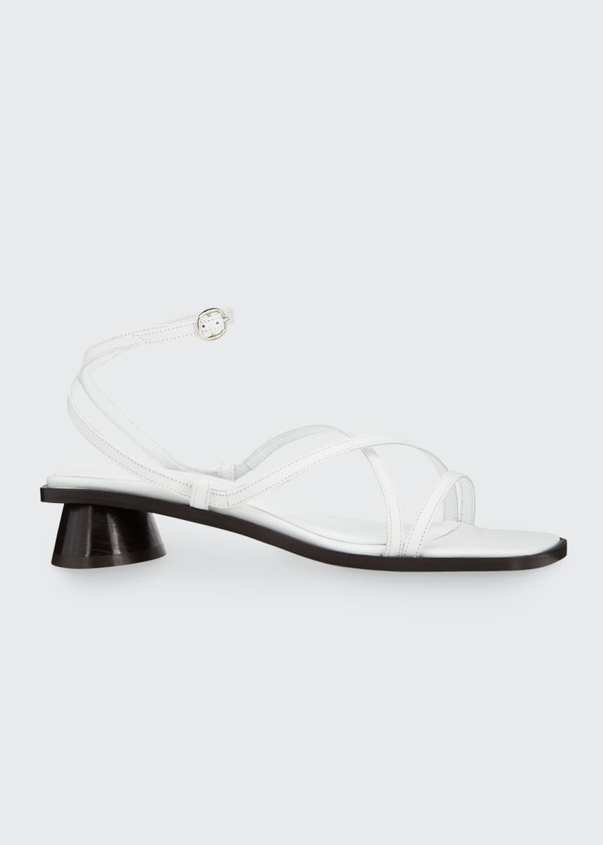 BY FAR Yumi Oval-Heel Sandals