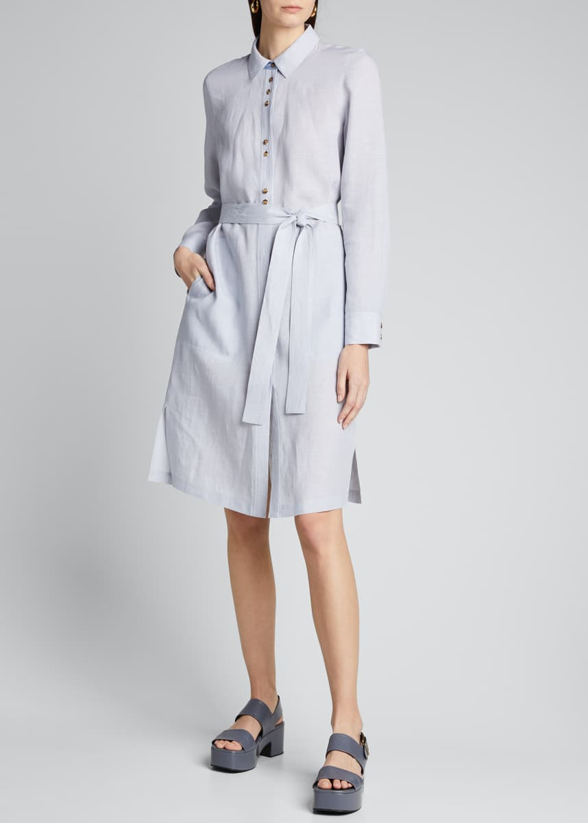 Lafayette 148 New York Michlle Illustrious Linen Duster Dress