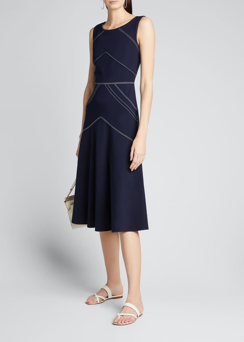 Lafayette 148 New York Natasha Punto Milano Sleeveless Dress