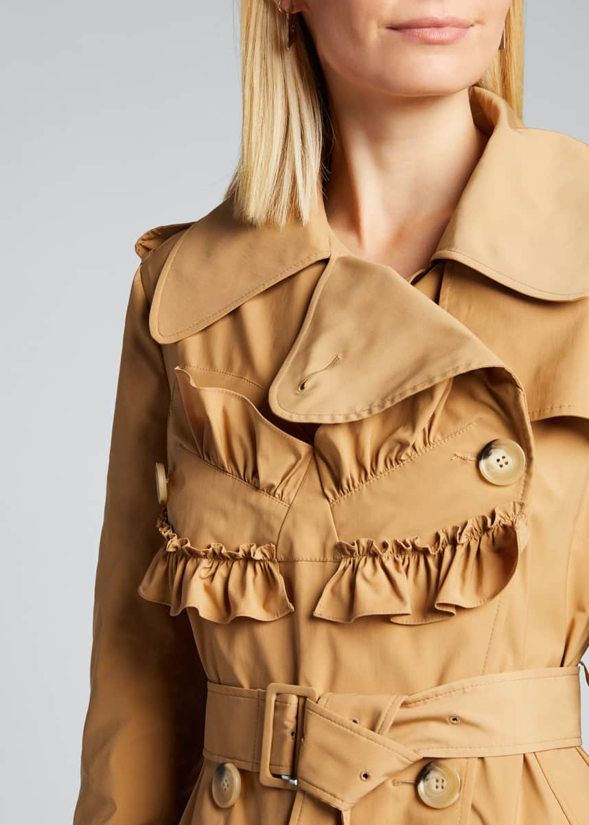 Simone Rocha Frilled Trench Coat