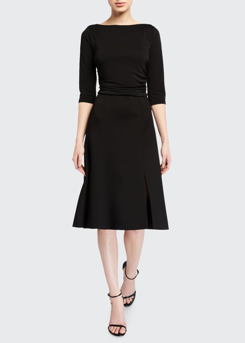 Elie Tahari Azalea 1/2-Sleeve A-Line Dress