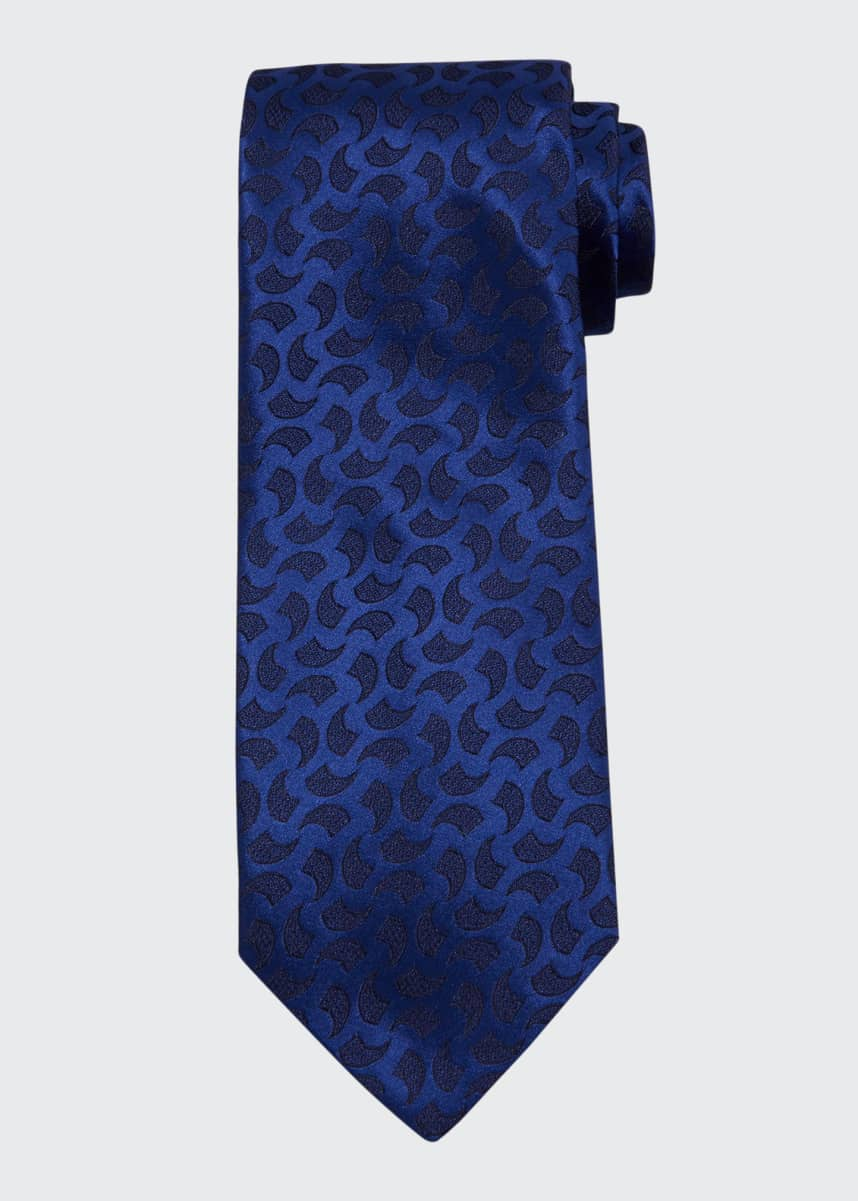 Charvet Large Abstract Silk Tie