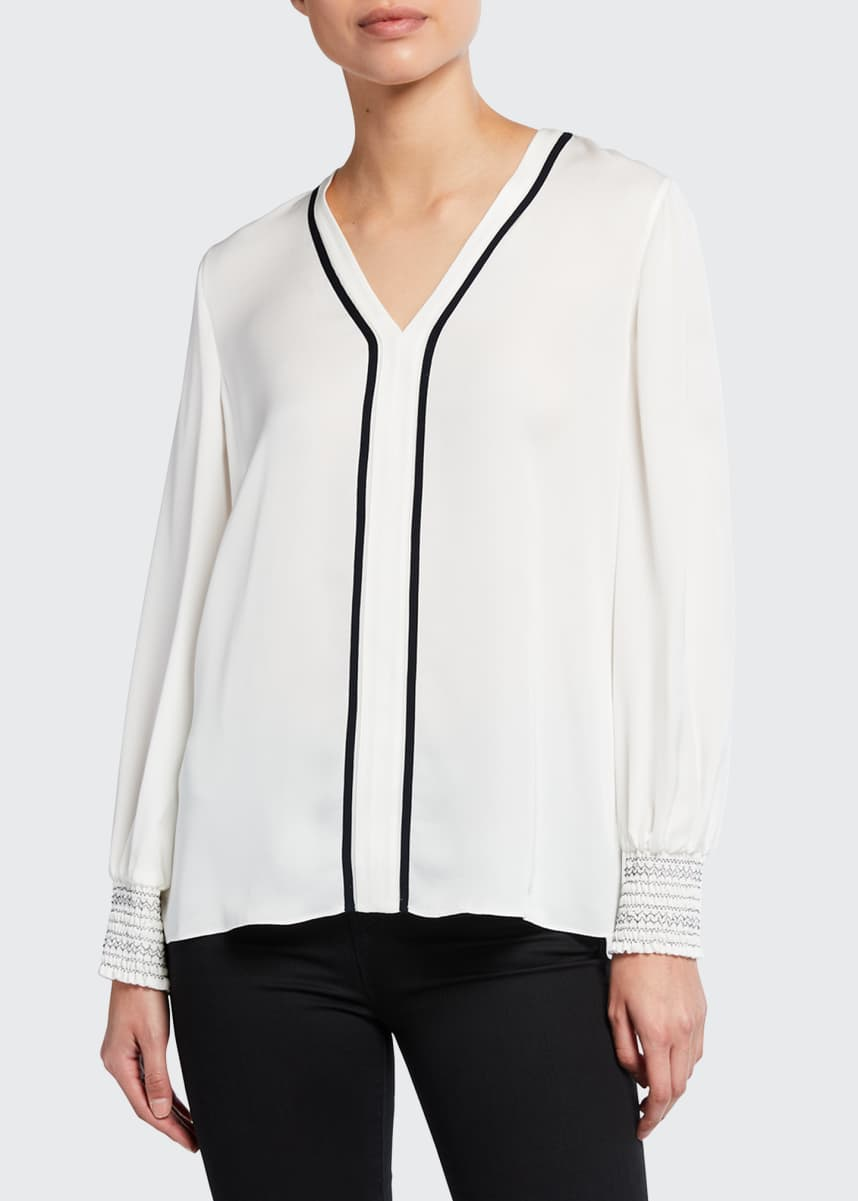 Elie Tahari Kinsley Silk Shirt
