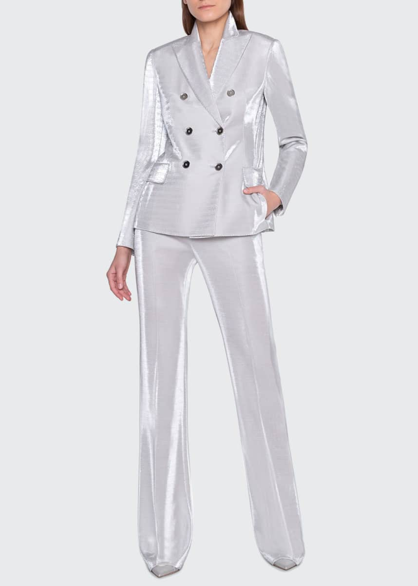 Akris Gloriana Metallic Jersey Jacket